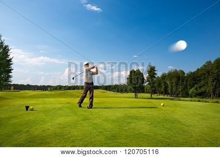 An image of a male golf player