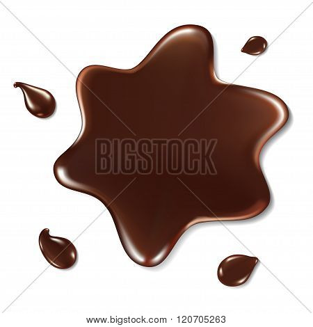 Chocolate Blot On White Background