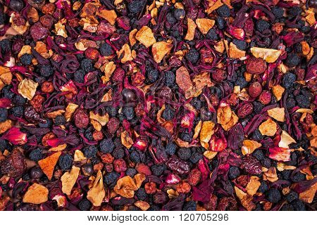 fruity and berry loose tea dry texture