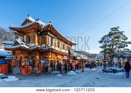 Jeonju traditional Korean village,Traditional Korean style.