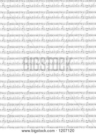 Sheet Of Printed Music