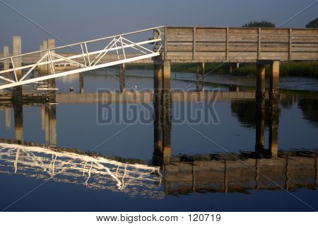 Boat Loading Dock With Reflection