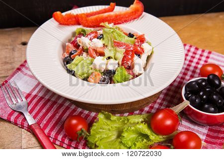 Salad From Feta Cheese