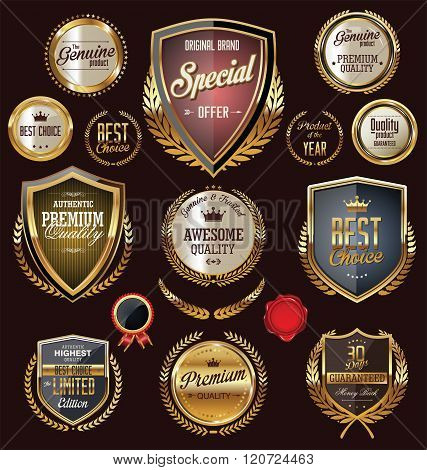 Quality retro vintage badges and labels collection