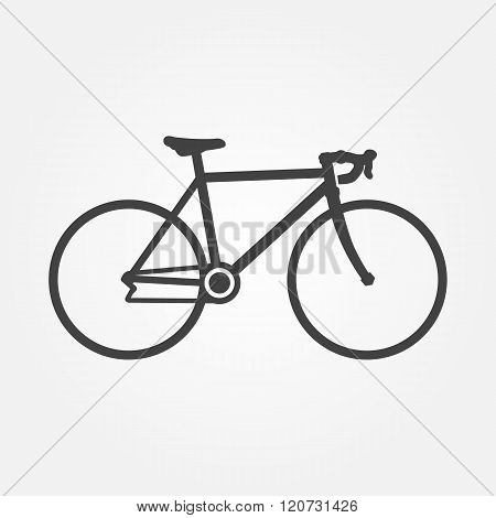 Vector Bike Icon. Silhouette Of A Racing Bike. Bicycle Icon.