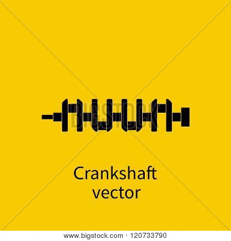 Spare Engine, Crankshaft, Vector. Crankshaft Icon. Spare Cars.