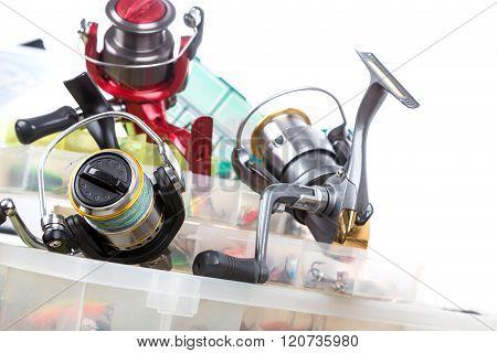 Fishing Tackles And Baits In Box