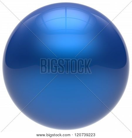 Sphere button round ball blue geometric shape basic circle solid figure simple minimalistic element single drop cyan shiny glossy sparkling object blank balloon atom icon