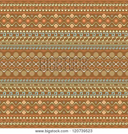 Seamless Pattern With Maya Style Elements