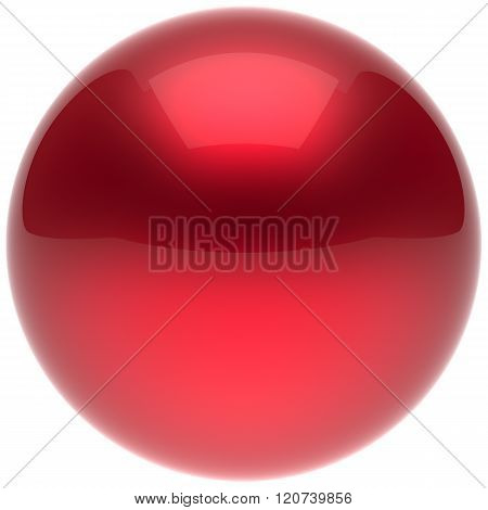 Sphere ball button circle round basic solid bubble figure geometric shape minimalistic simple atom element single red scarlet shiny glossy sparkling object blank balloon icon. 3d render