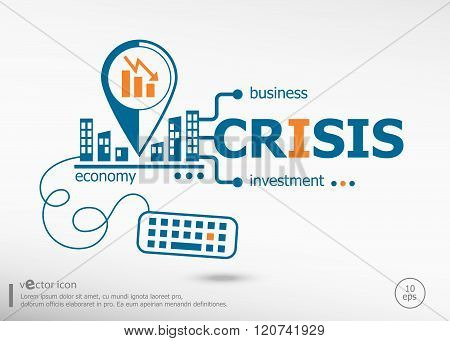 Crisis And Marketing Concept.