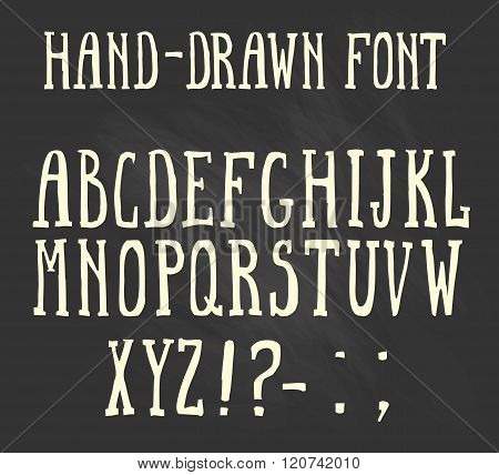 Bold hand-drawn font in the western style.