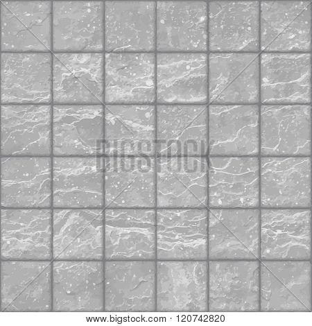 Seamless Texture Of Grunge Gray Stone Tiles Wall With Spots