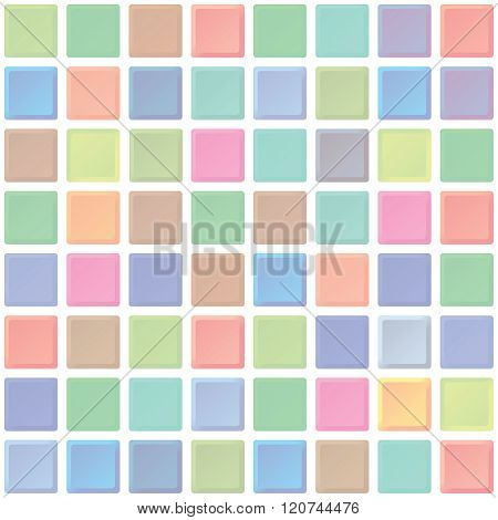Abstract Color Tiles Vector Seamless Pattern. Bathroom Interior Walls Texture