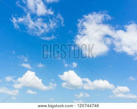Sky With Clouds,blue Skies, White Clouds