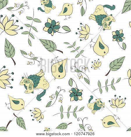 Seamless botanic texture