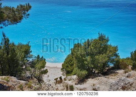 Amazing view of Gialos Beach, Lefkada, Greece