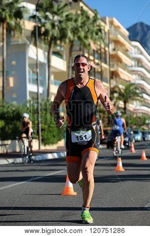 One Runner Ahead In Sunglasses
