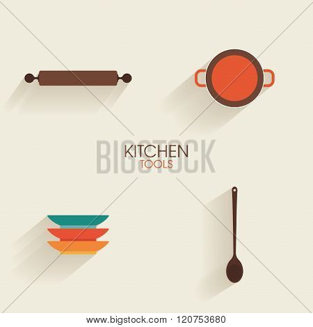 Abstract Kitchen Tools