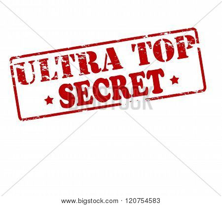 Rubber stamp with text ultra top secret inside vector illustration
