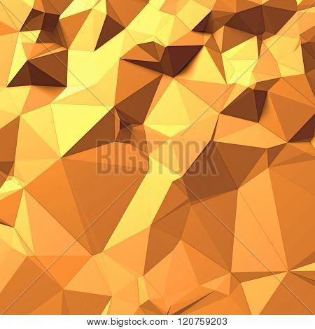 orange background of triangles