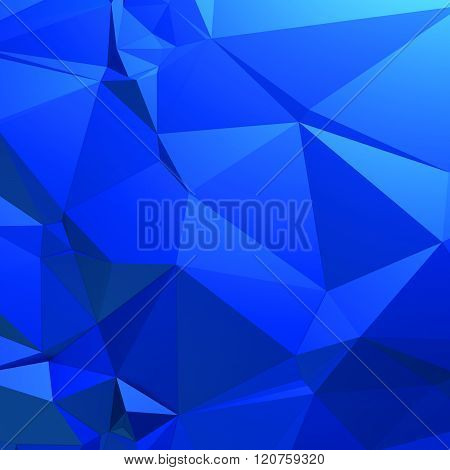 Blue background of triangles