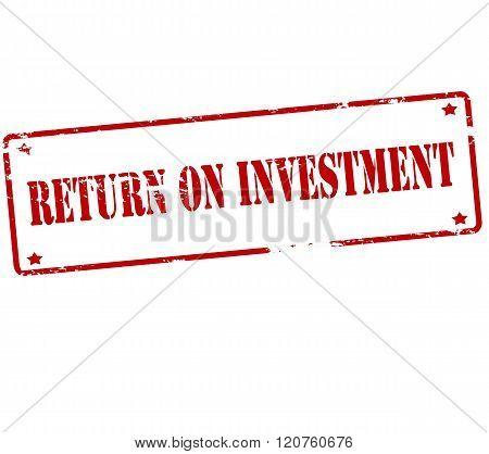 Rubber stamp with text return of investment inside vector illustration