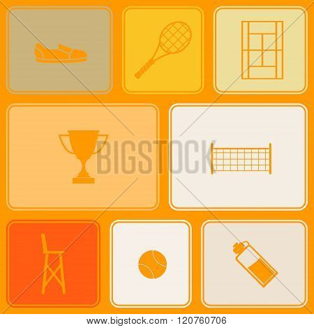 Seamless pattern with tennis icons