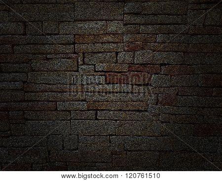 Black Illustration Rustic old fashioned brick wall background