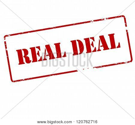 Rubber stamp with text real deal inside vector illustration poster