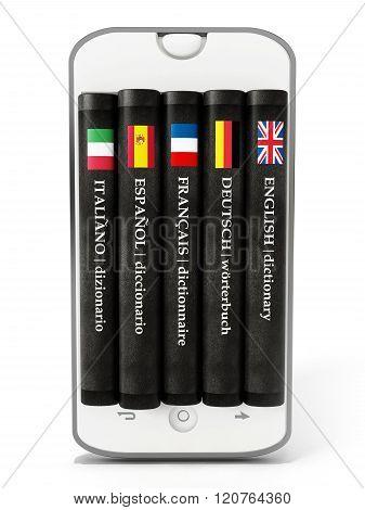 Dictionaries Inside Smartphone Screen