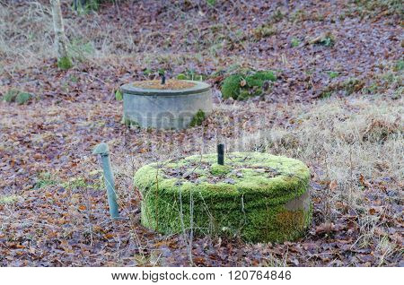 Two Old Well In The Forrest