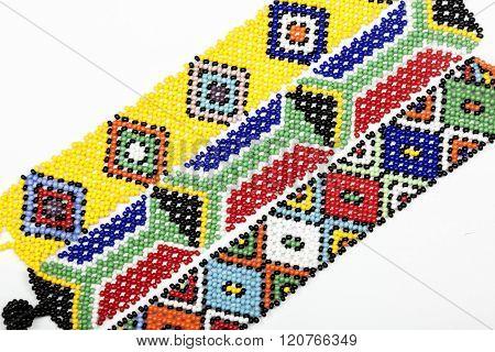 Three Zulu Beaded Bracelets In Bright Colors