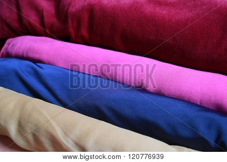 Multicolor Fabric Texture Background