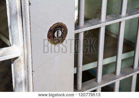 Locked Jail Cell