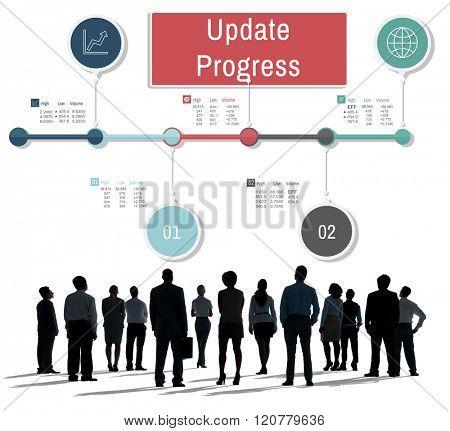 Update Progress Improvement Proceed Information Concept