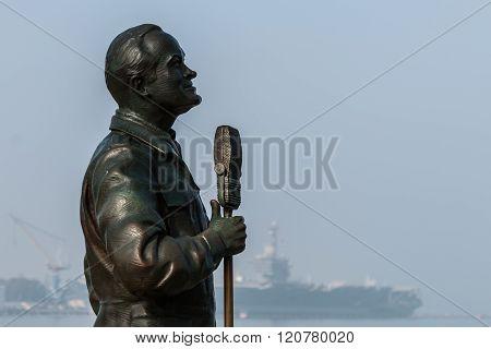 Bronze Statue of Bob Hope in San Diego, California