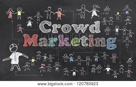 Crowd Marketing Illustration
