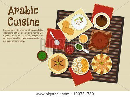 Traditional arabian and turkish cuisine