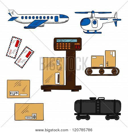Air and rail freight service elements