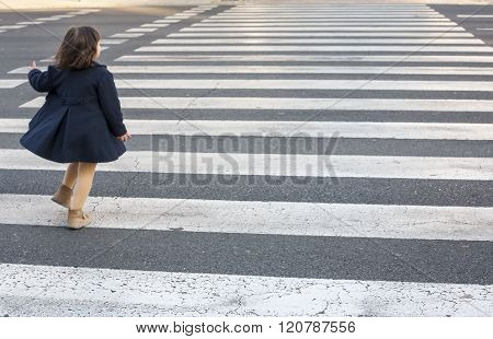 Crossing Alone A Zebra Cross