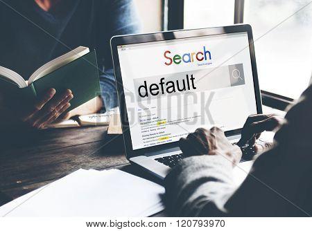 Default Search Data Electronics Concept