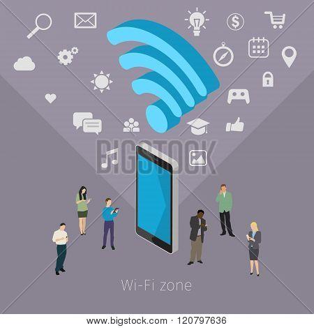 Concept of Wifi zone.