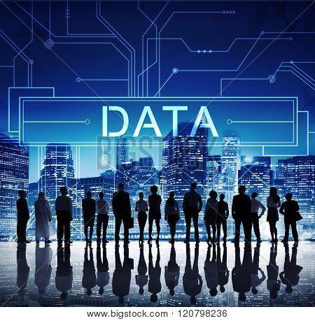 Data Circuit Borad Technology Futuristic Information Concept