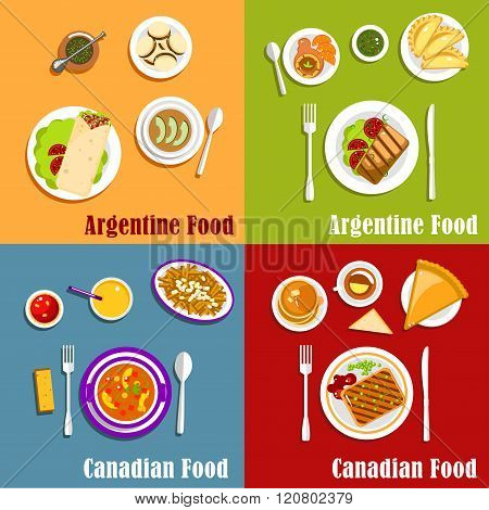 Canadian and Argentine national cuisine