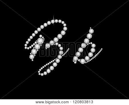 Bb Diamond Script Jeweled Font