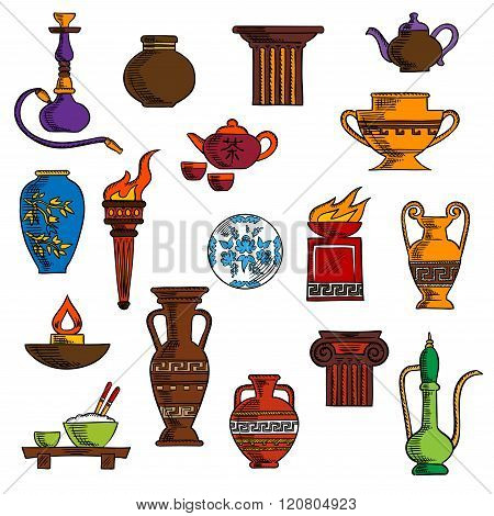 Various vases, jugs, containers and kitchenware