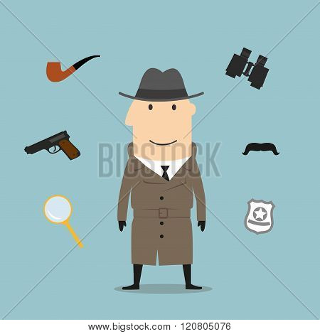 Detective and spy profession icons
