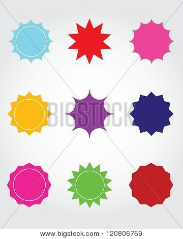 A collection of vector starbursts and attention grabbers