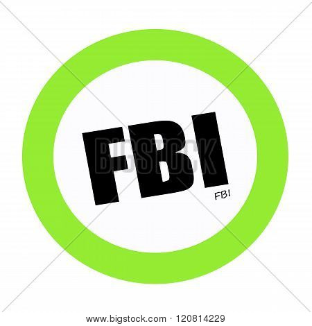 an images of FBI black stamp text on white